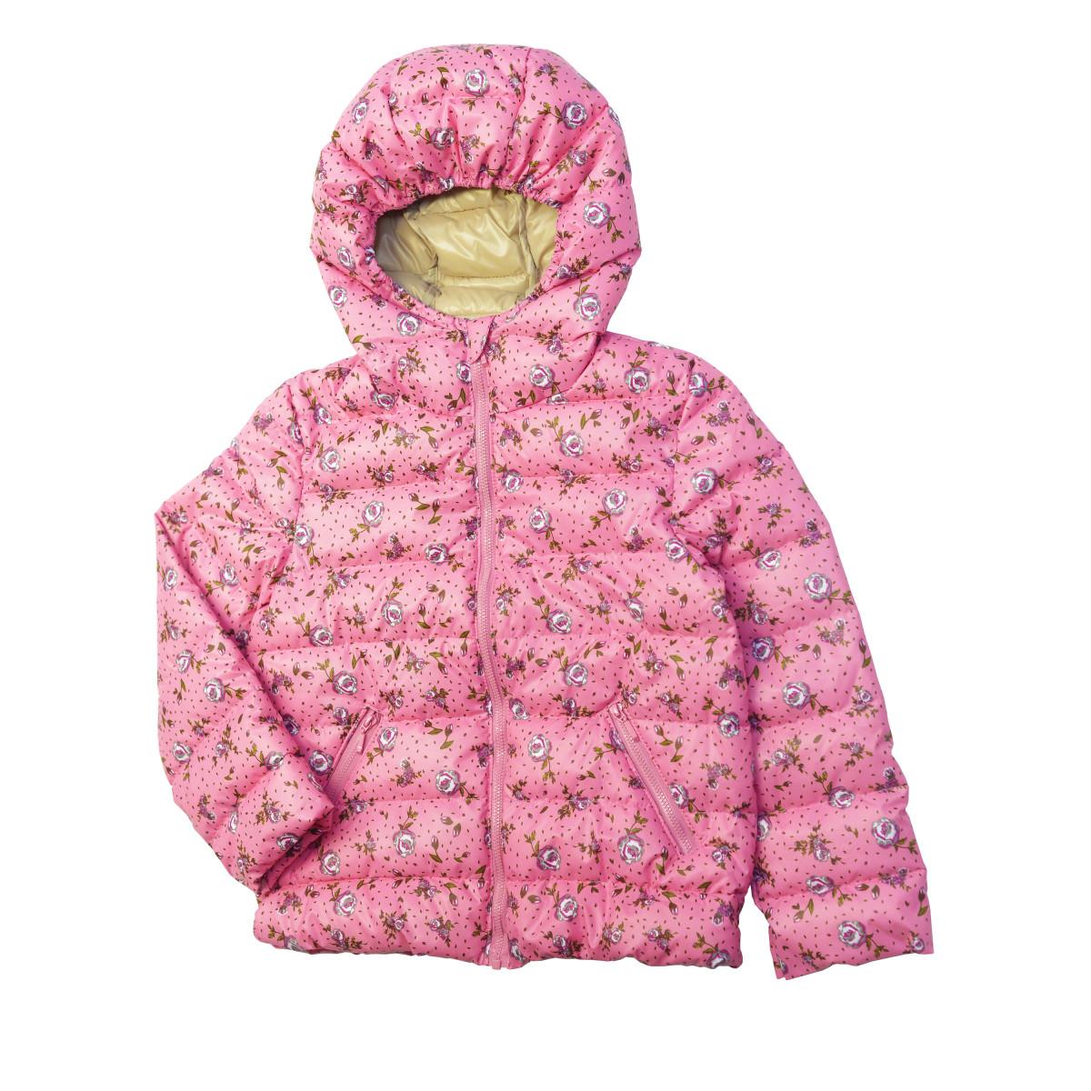 Куртка для девочки утеплённая.Розовая
