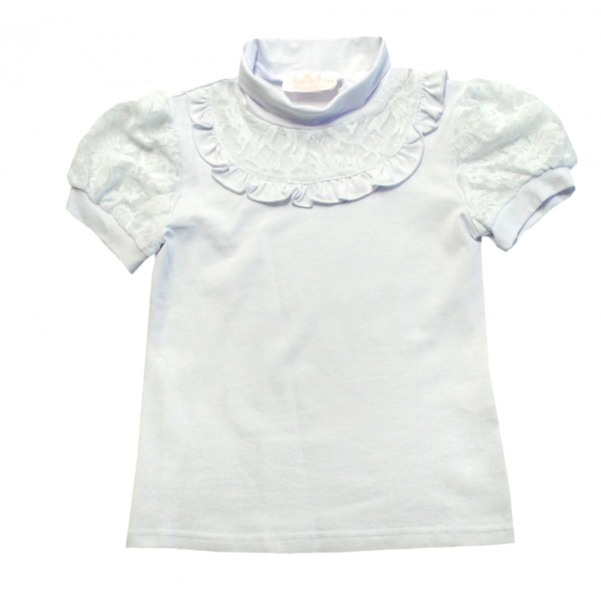 Блузка трикотажная с коротким рукавом.
