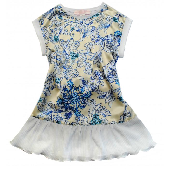 Платье гжель.