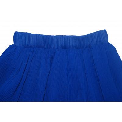 Юбка синяя.