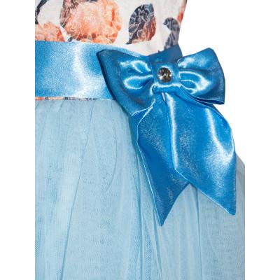 Платье с пышной юбкой и бантом