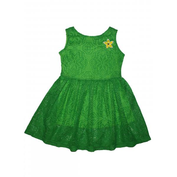 Платье кружевное.Зелёное.