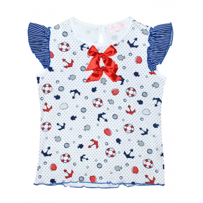 Трикотажная блузка с морским принтом.