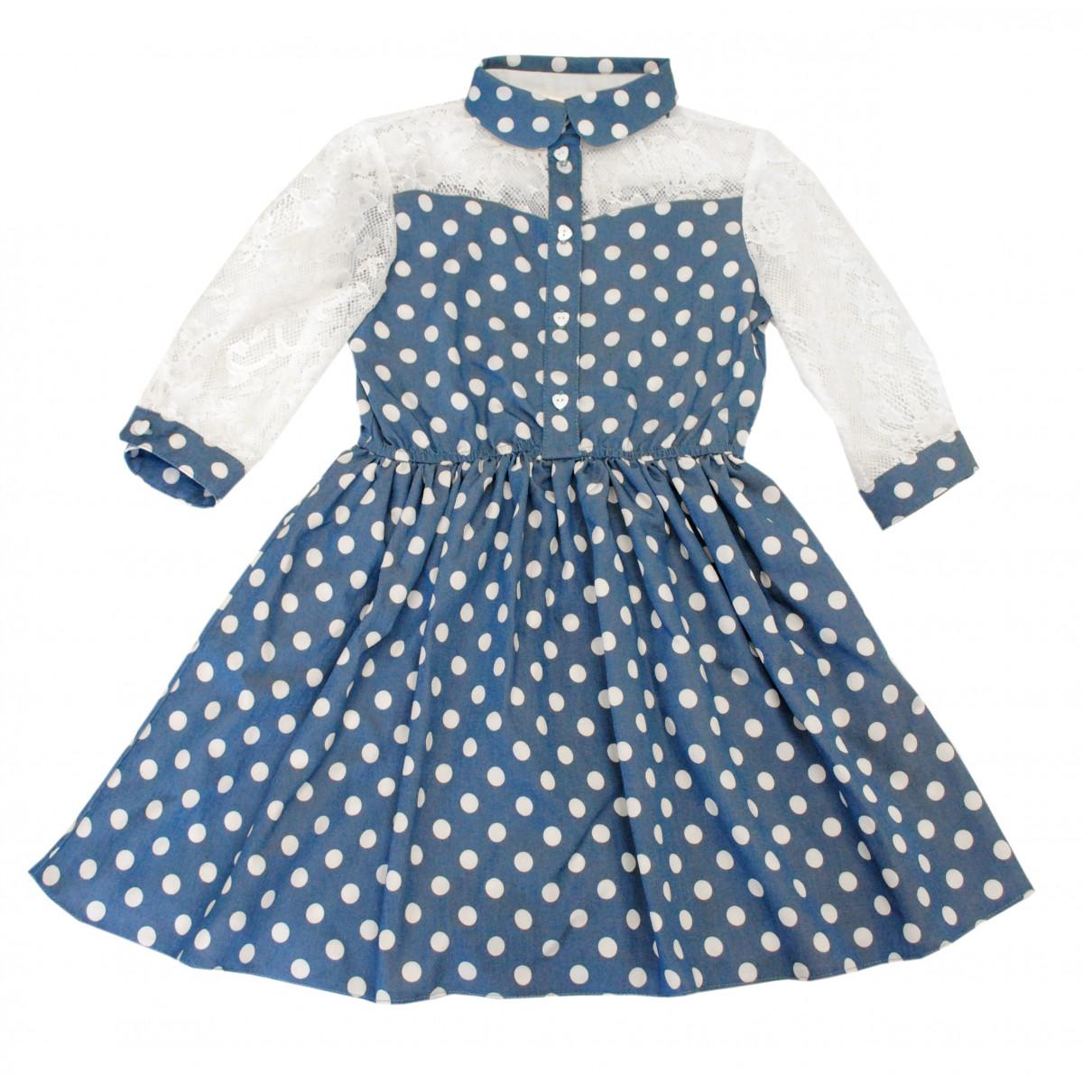 Платье с ажурным рукавом.