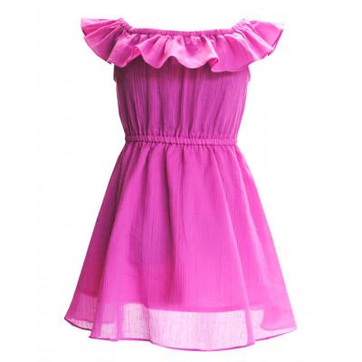 Платье с воланом.