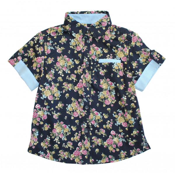 """Рубашка на мальчика """"Цветы""""."""