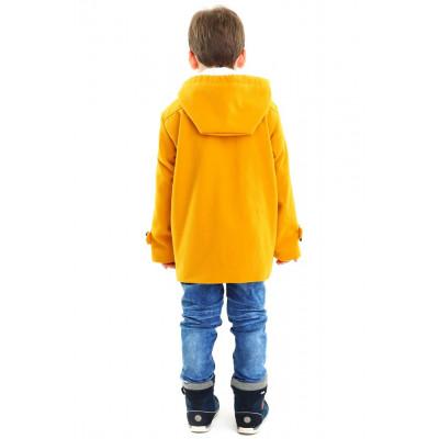 Демисезонное драповое полупальто-дафэлкот без меха,.Для мальчика.