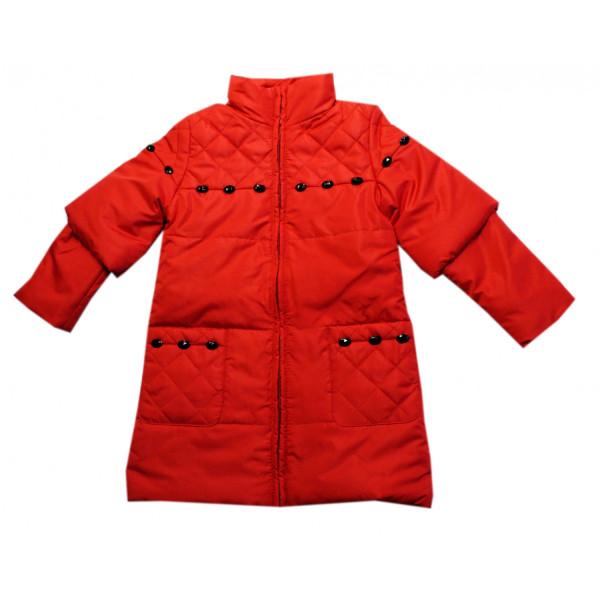 Утеплённое прошитое пальто-трансформер.