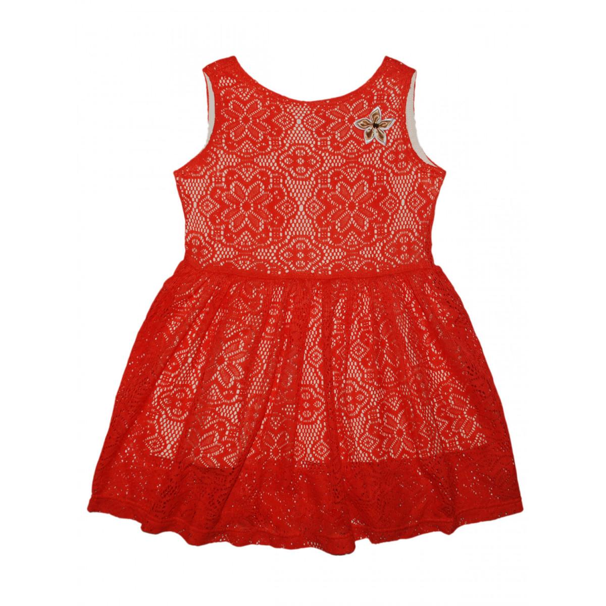 Платье кружевное.Красное