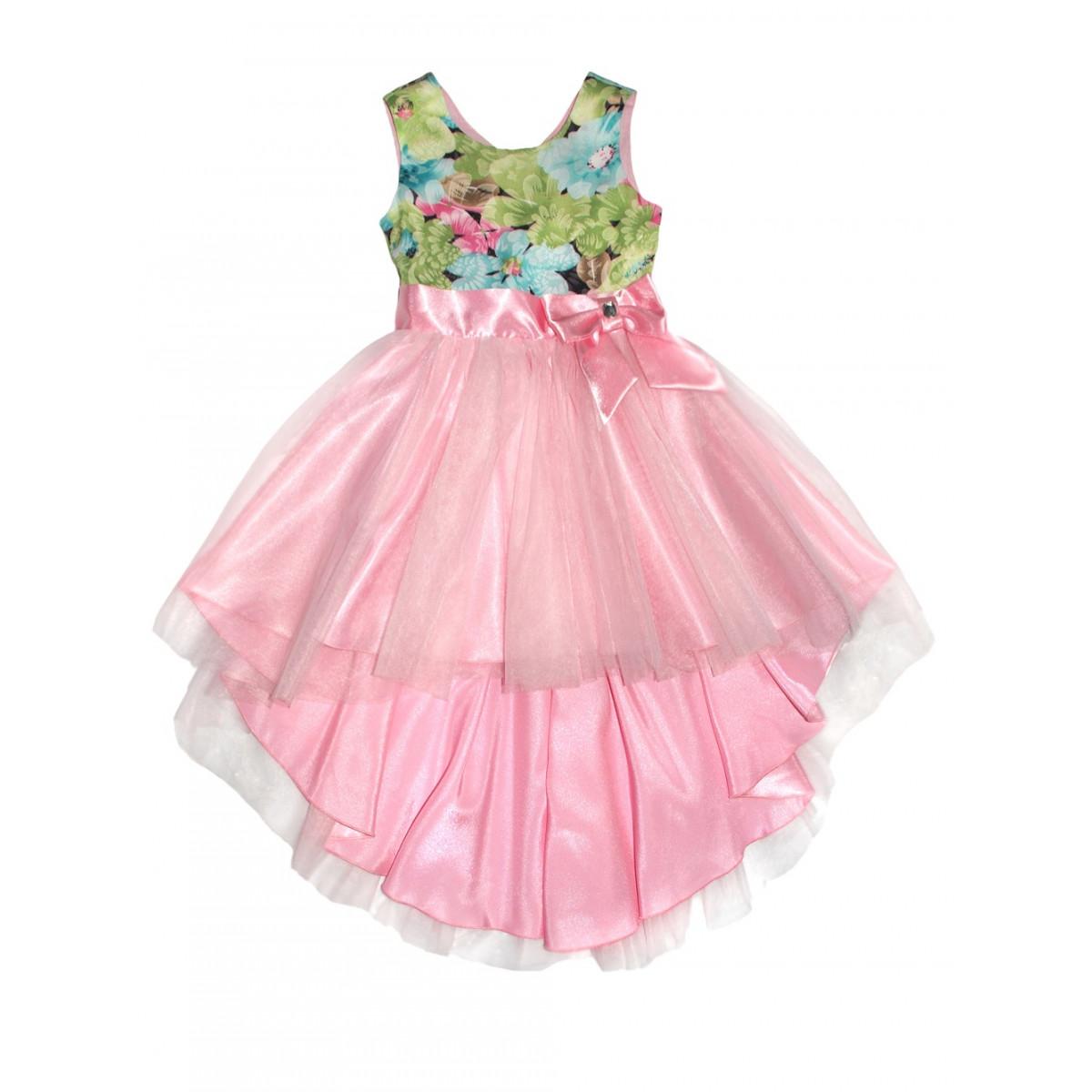 Платье.Пышное с розовым бантом.