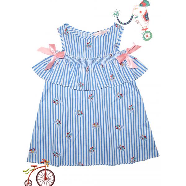 """Платье для девочки .Принт """"Велосипед"""""""