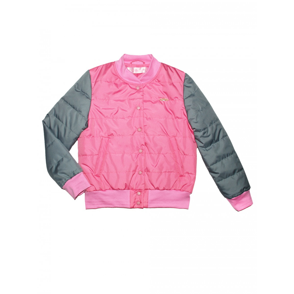 Бомбер розовый,утеплённый.