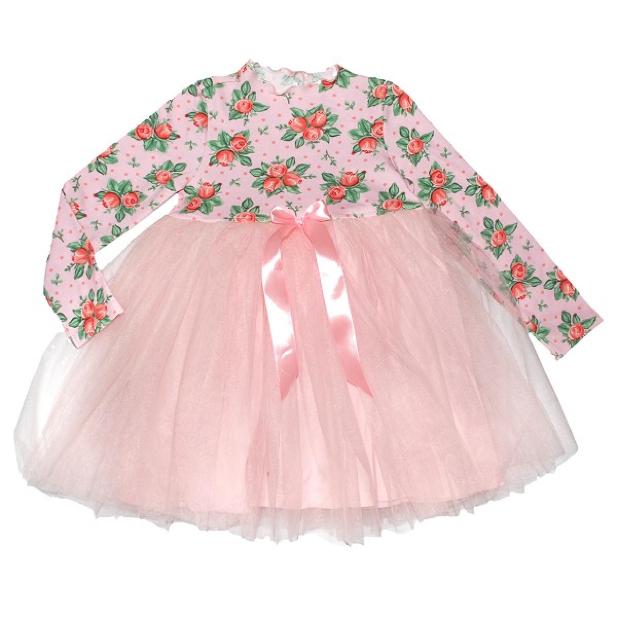 Нежное платье с цветами.