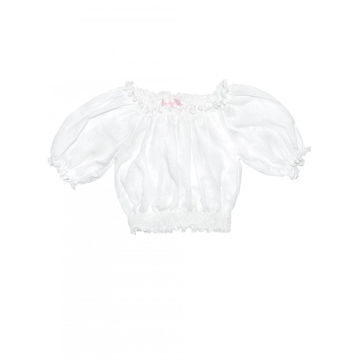 Блузка белая вышитая.