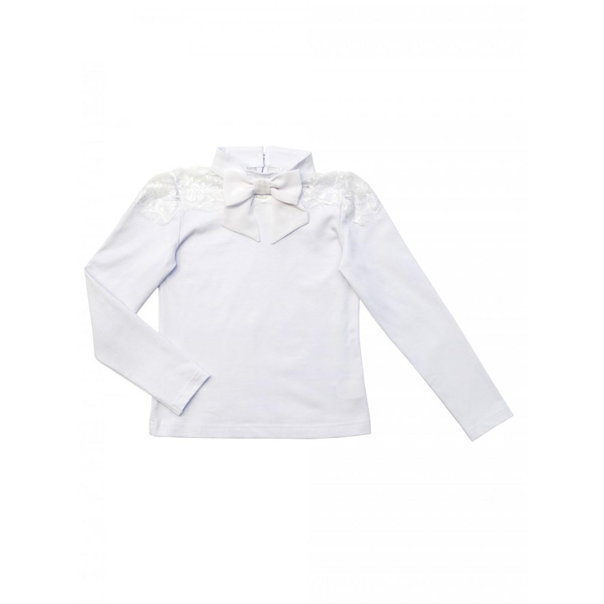 Блузка  для  девочки с кружевами.