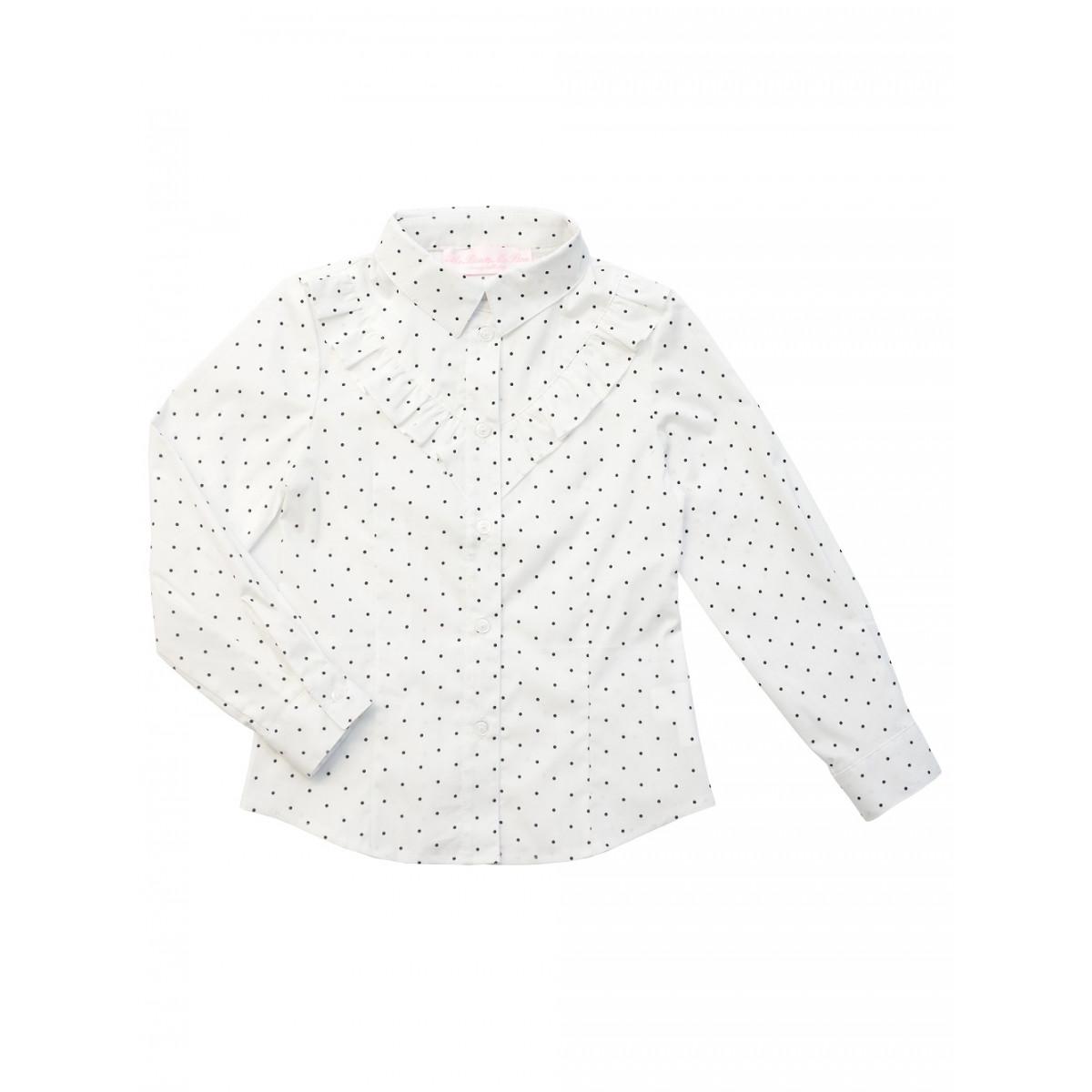 Блузка для девочки в горошек.