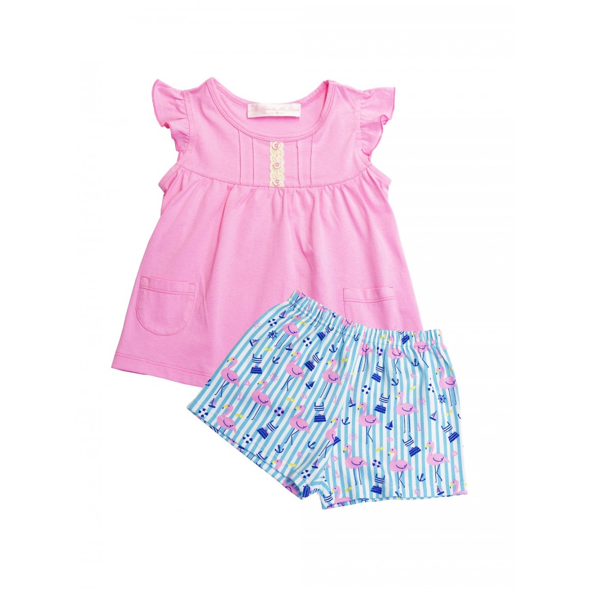 "Комплект  для девочки ""Розовый фламинго"""