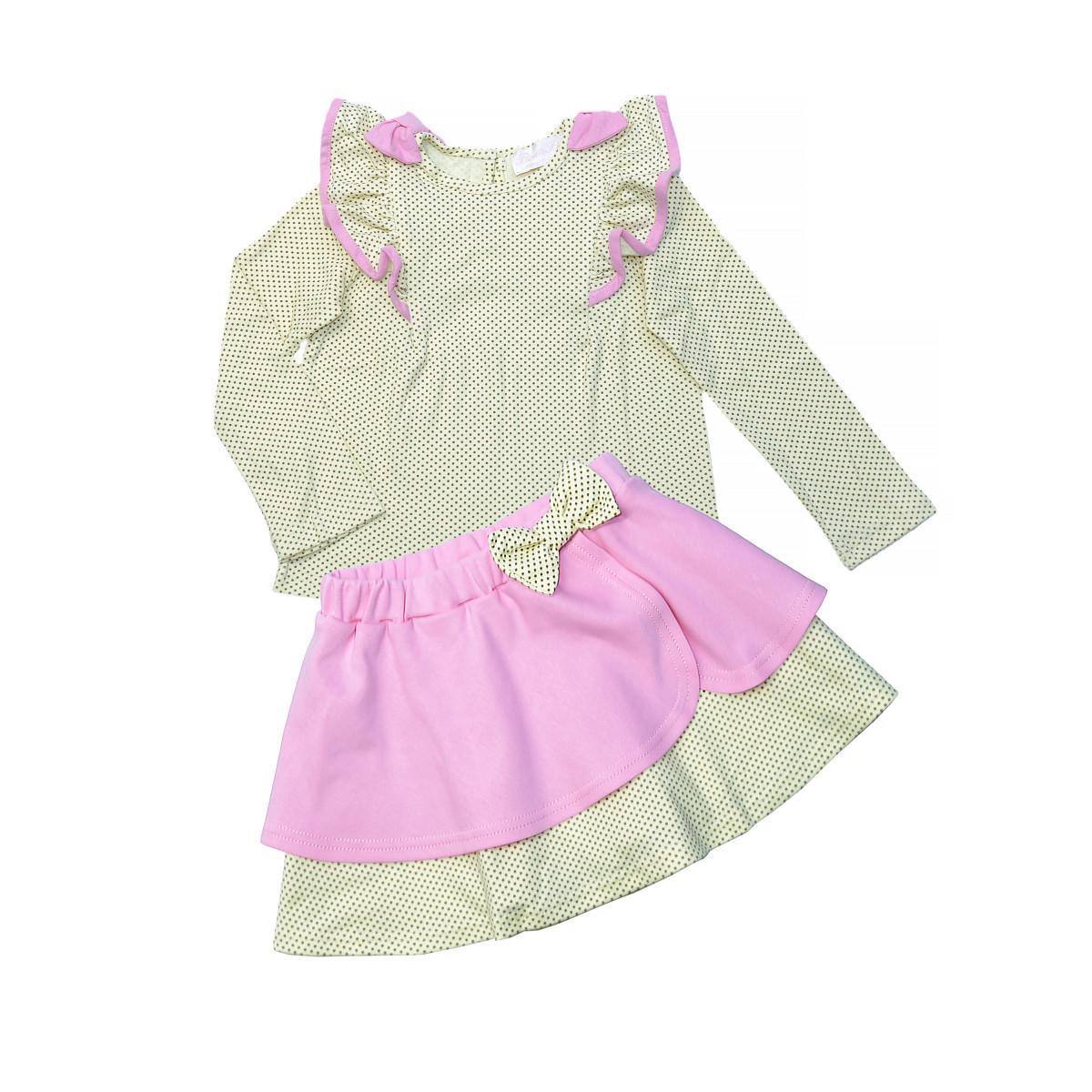 Комплект для девочки.Блузка и юбка.
