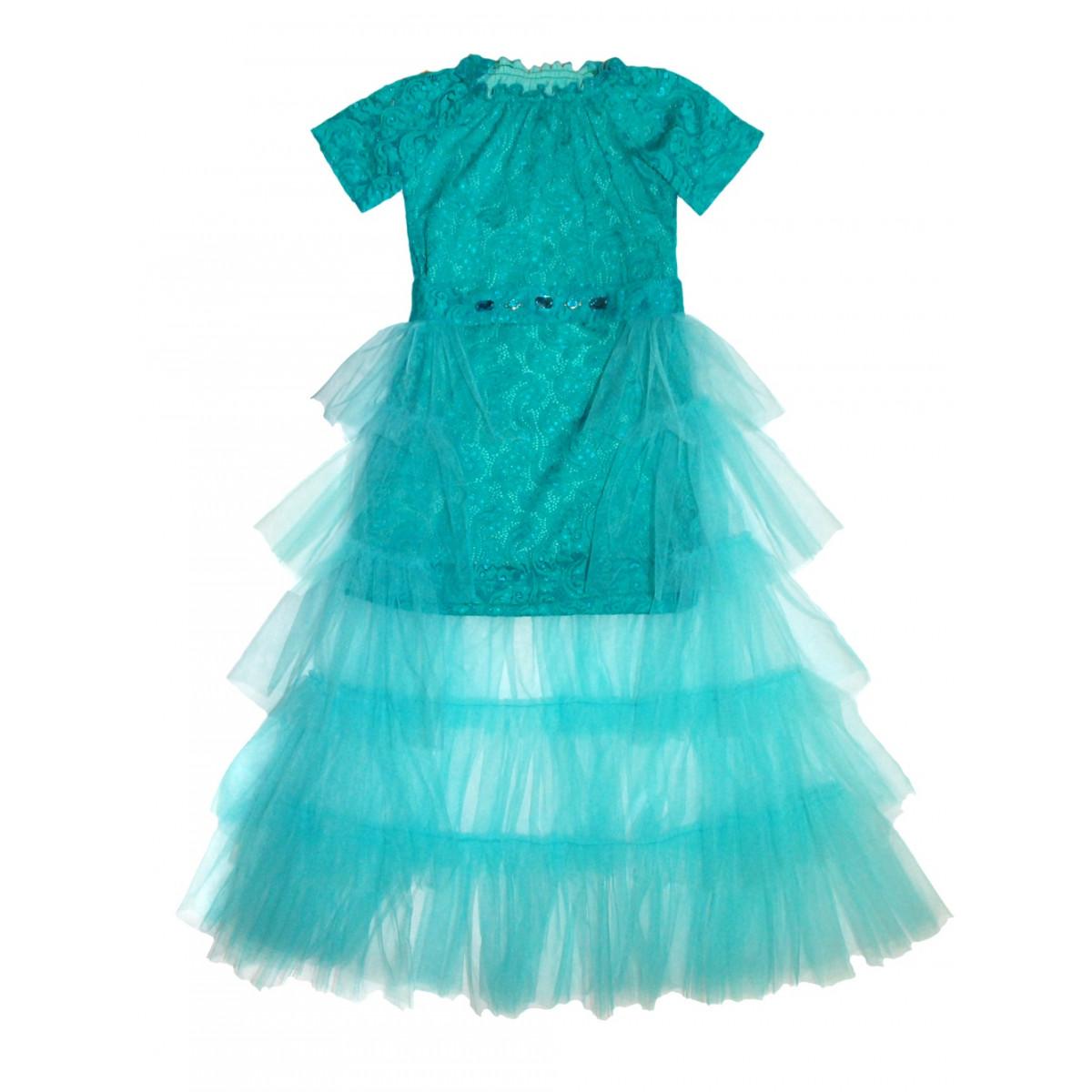 Нарядный комплект  для девочки.Платье с юбкой.