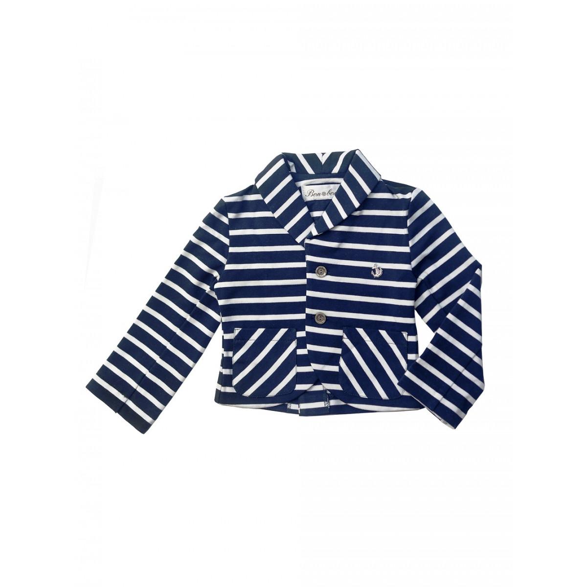 Пиджак для мальчика. Трикотажный в полоску.