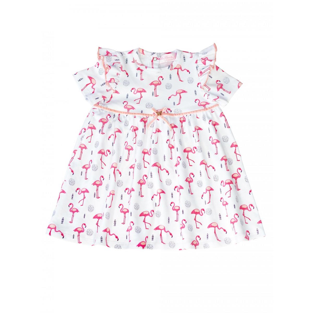 Платье для девочки фламинго.